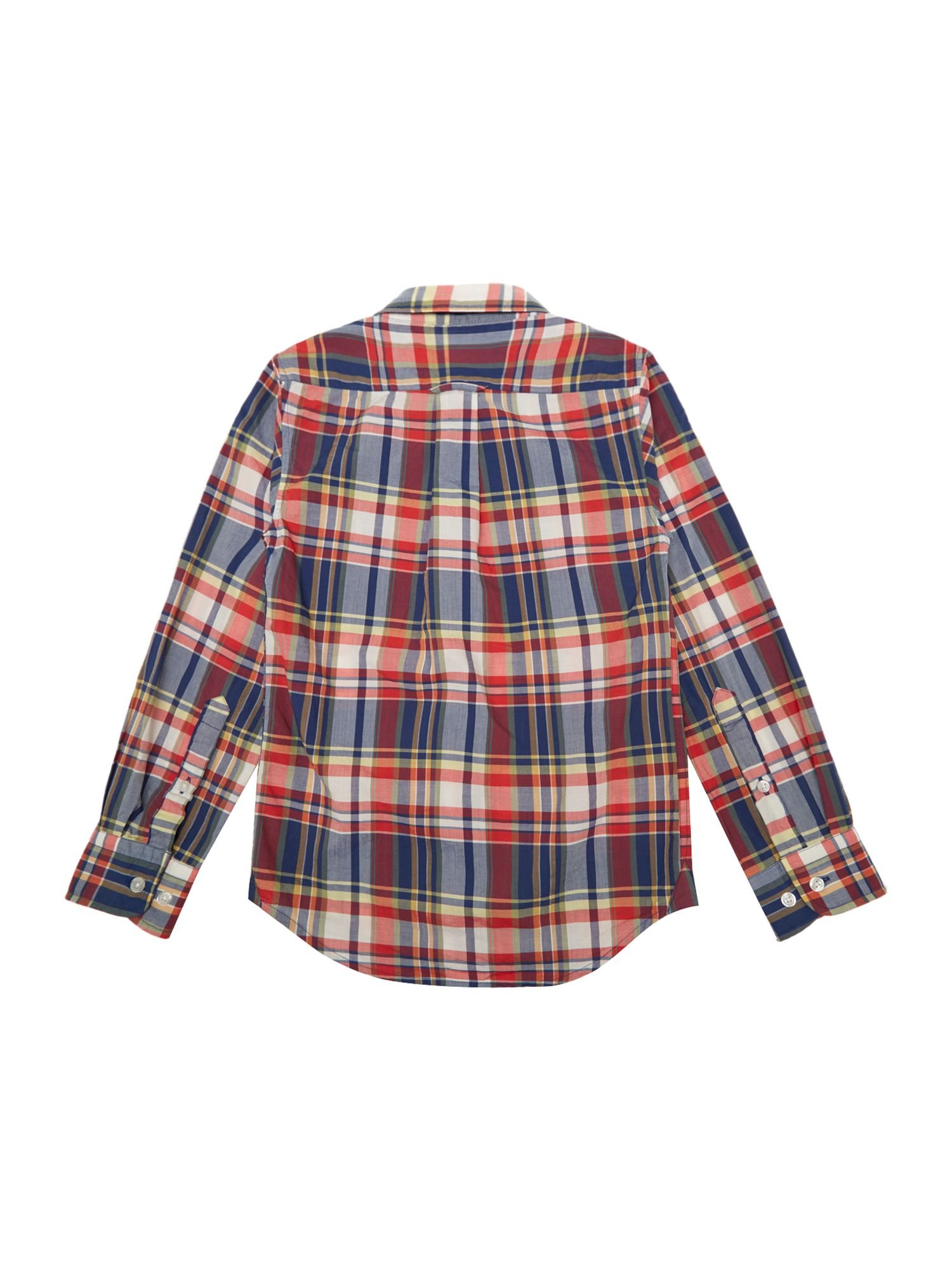 Boys check poplin shirt
