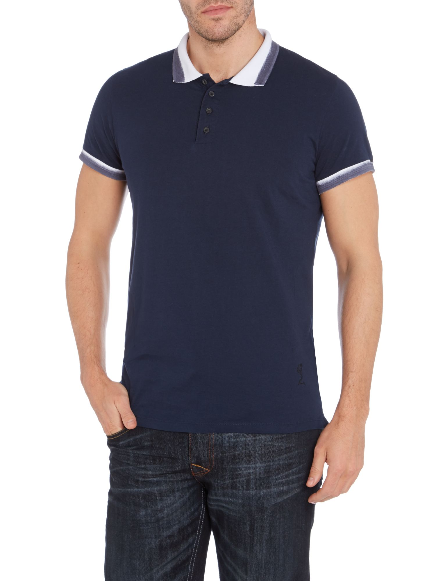 Dye collar polo shirt