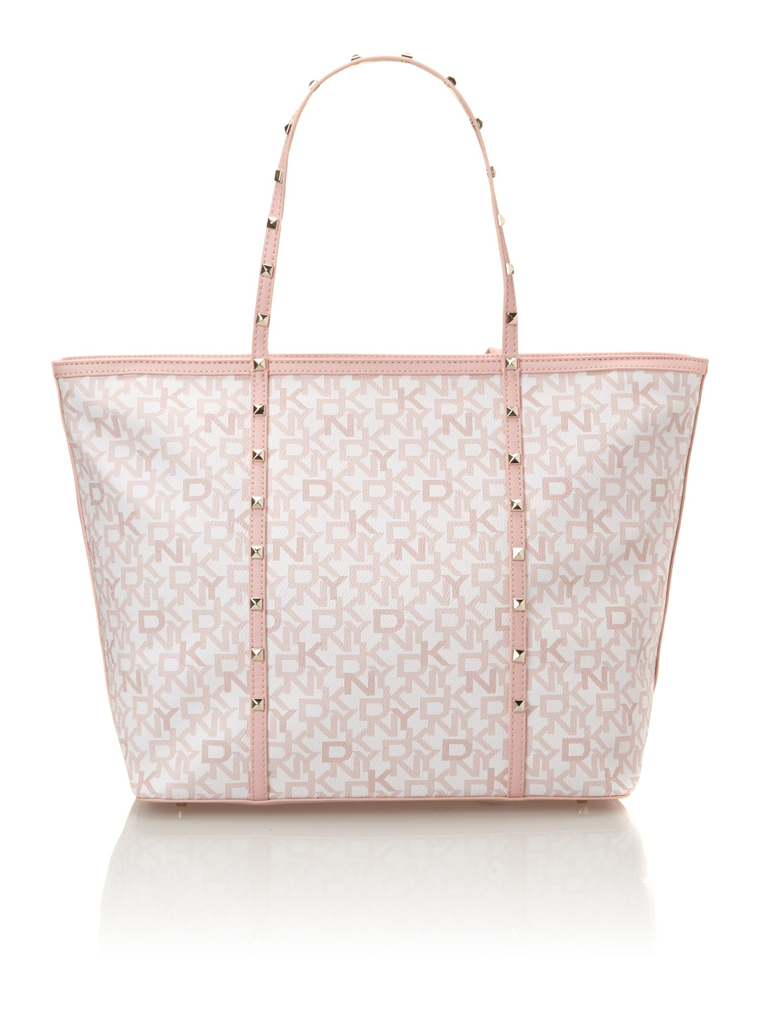 Coated logo pink large tote bag
