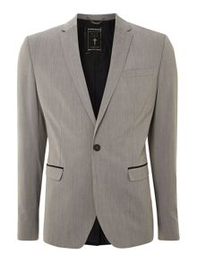 Three pocket contrast panel blazer