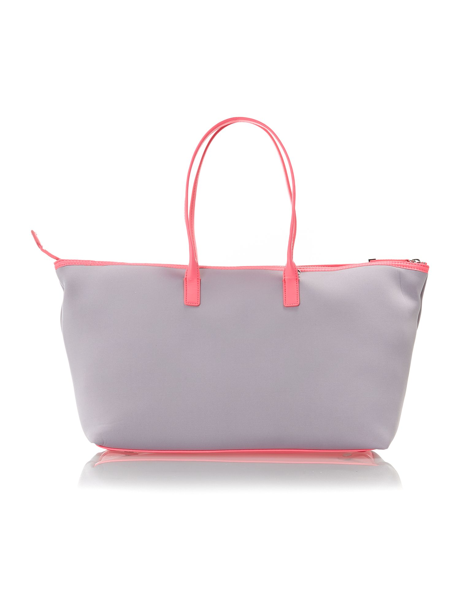 Neoprene multi-coloured tote bag