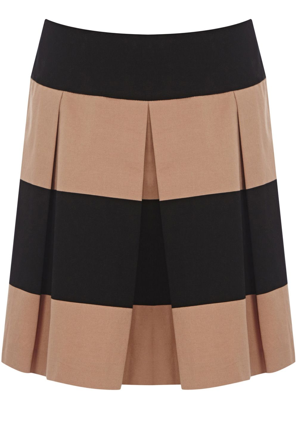 Blocked stripe skater skirt