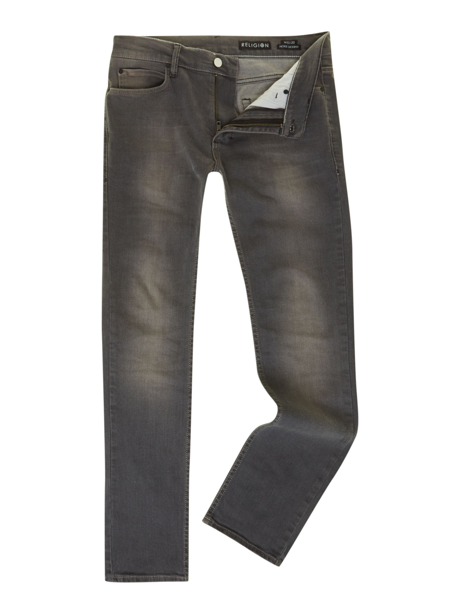 Slim fit grey wash jean