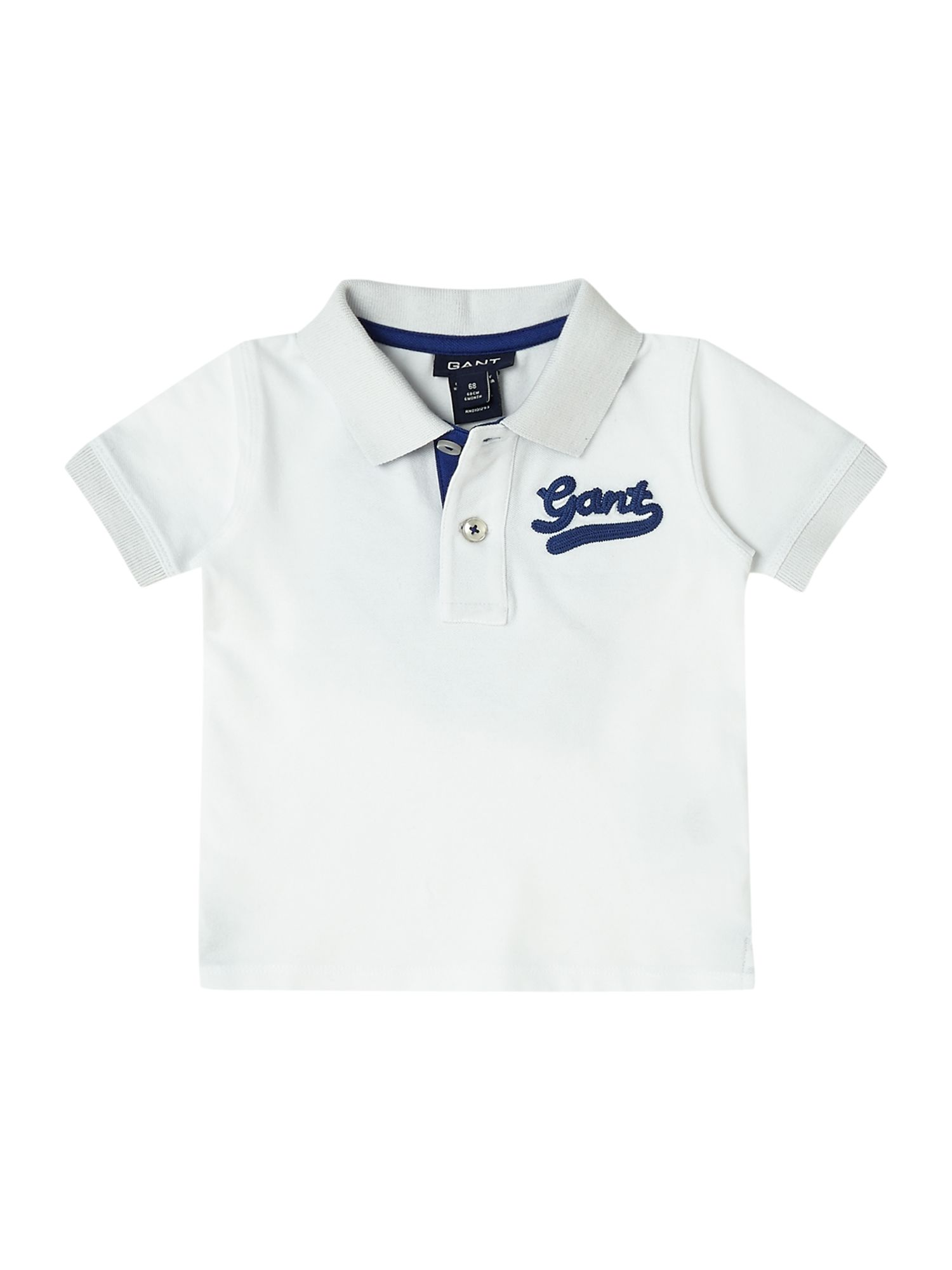 Boys contrast collar polo