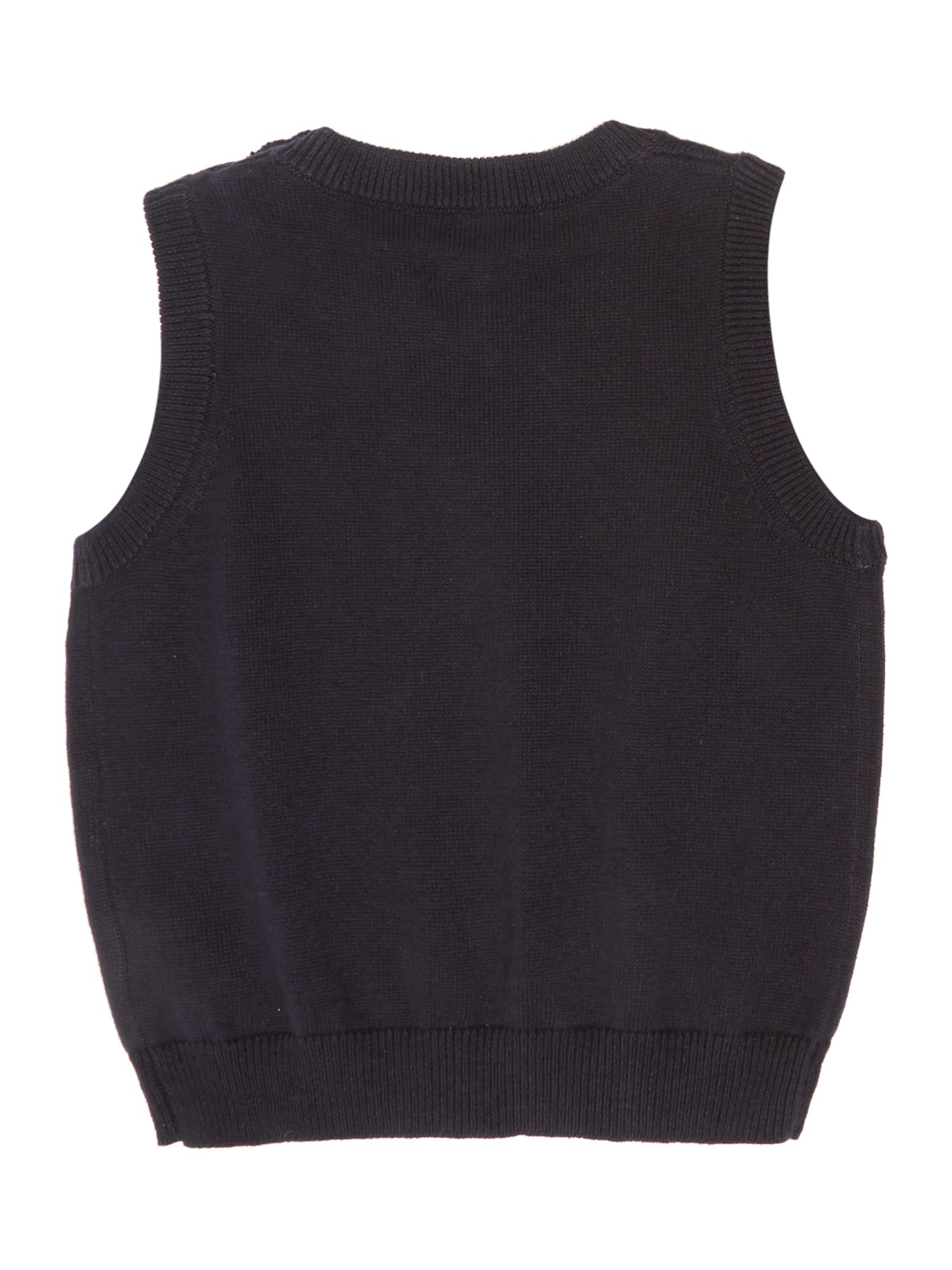Boys V-neck pullover knit
