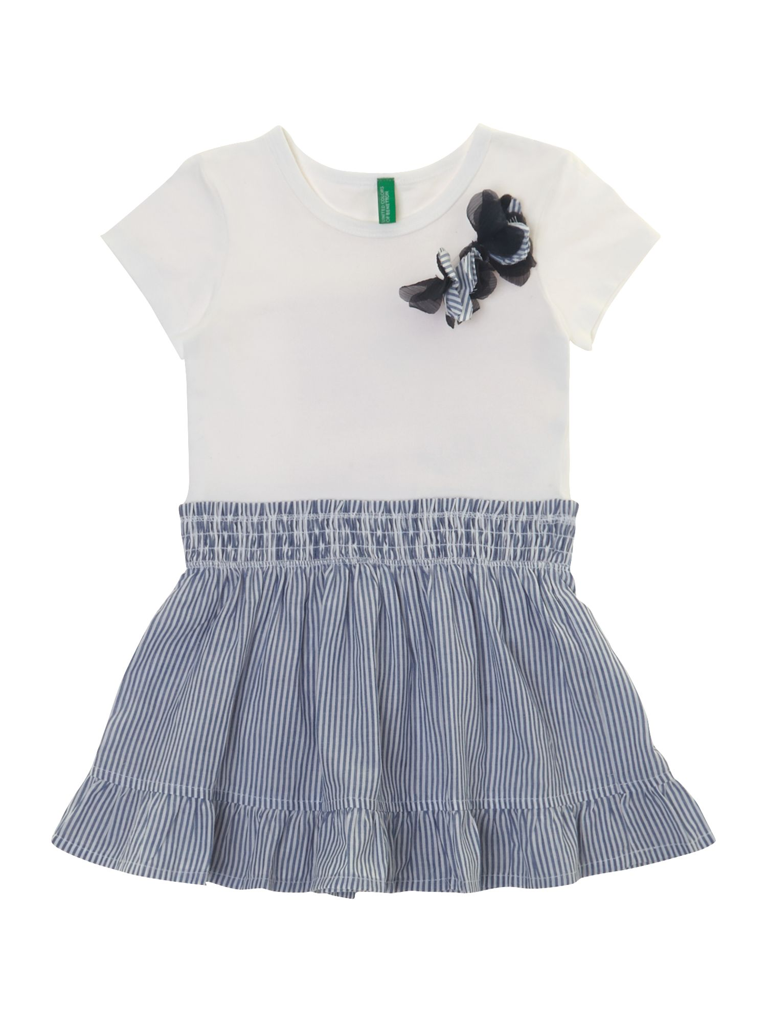 Girl`s 2 in 1 stripe dress