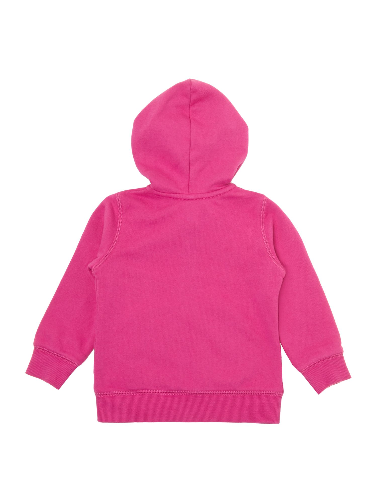 Girls logo hooded sweat
