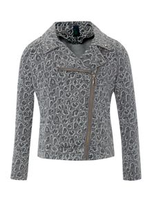 Girl`s animal print jacket