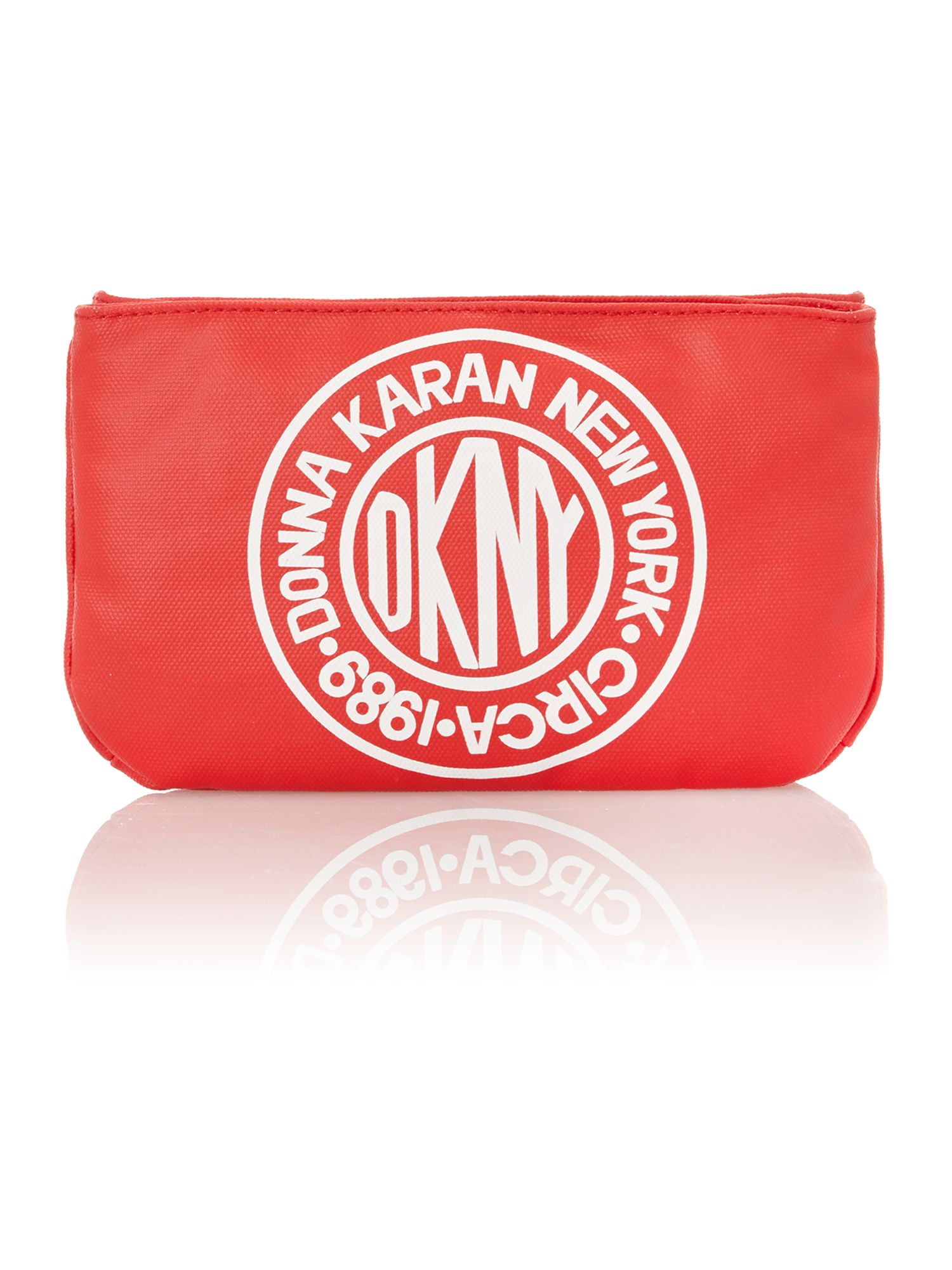 Canvas logo red small crossbody bag