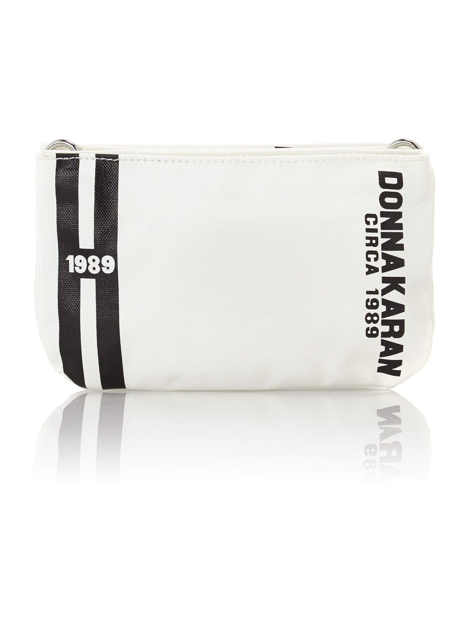 Canvas logo white small crossbody bag
