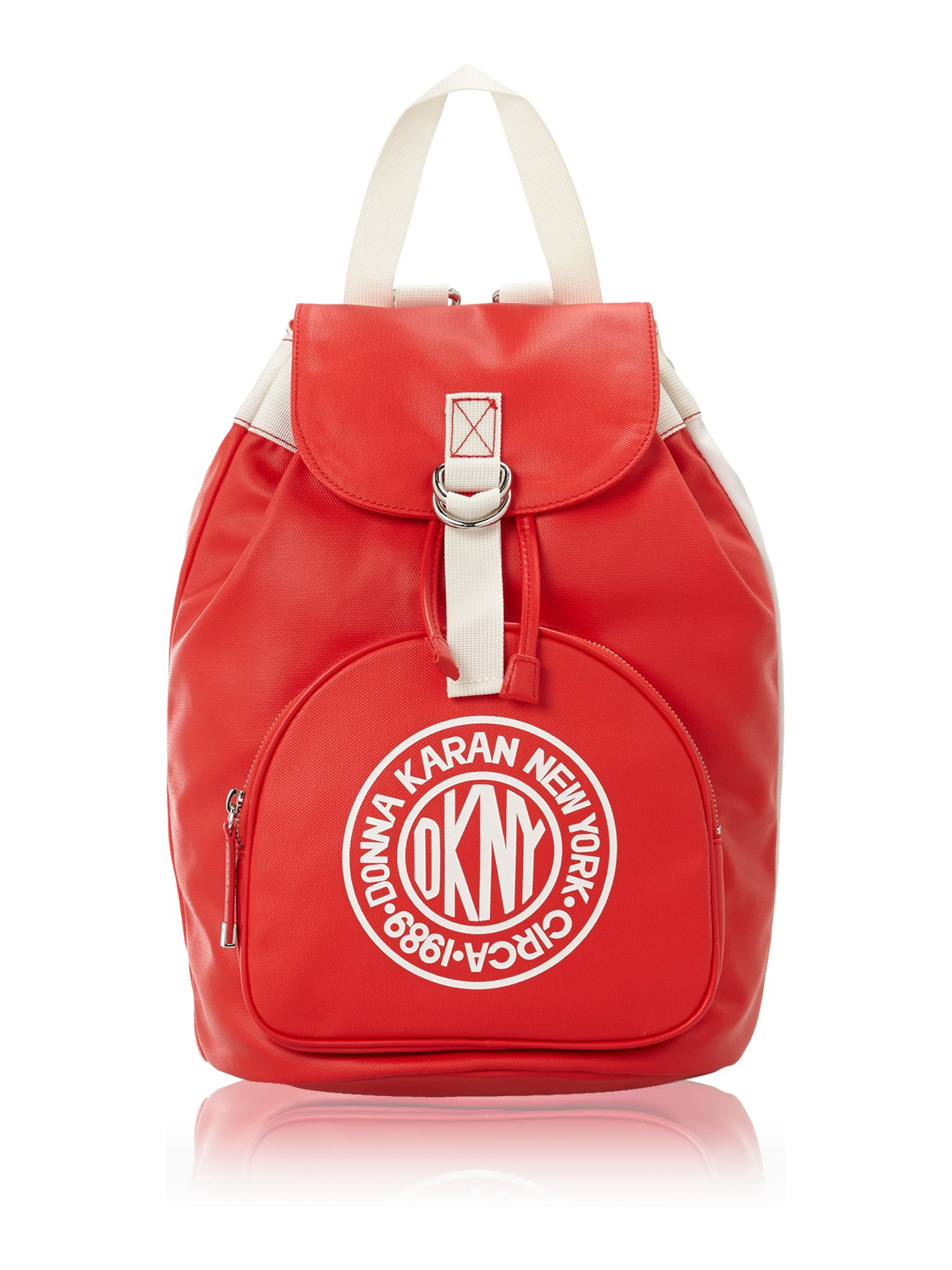 Canvas logo red backpack
