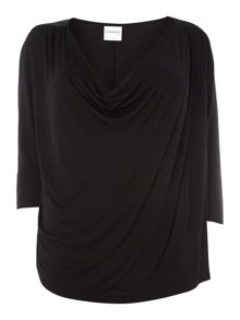 3/4 Sleeve drape top