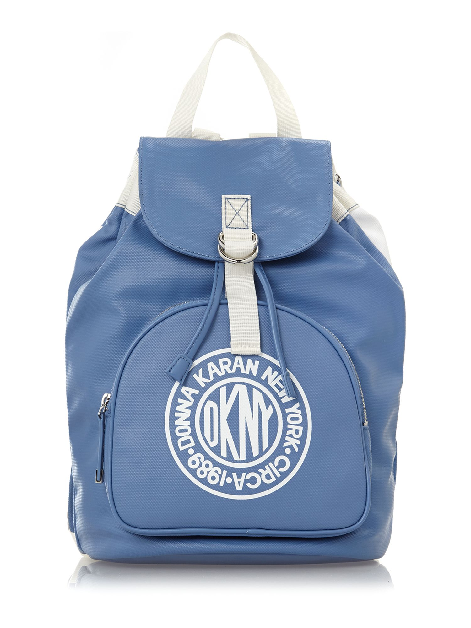 Canvas logo blue backpack