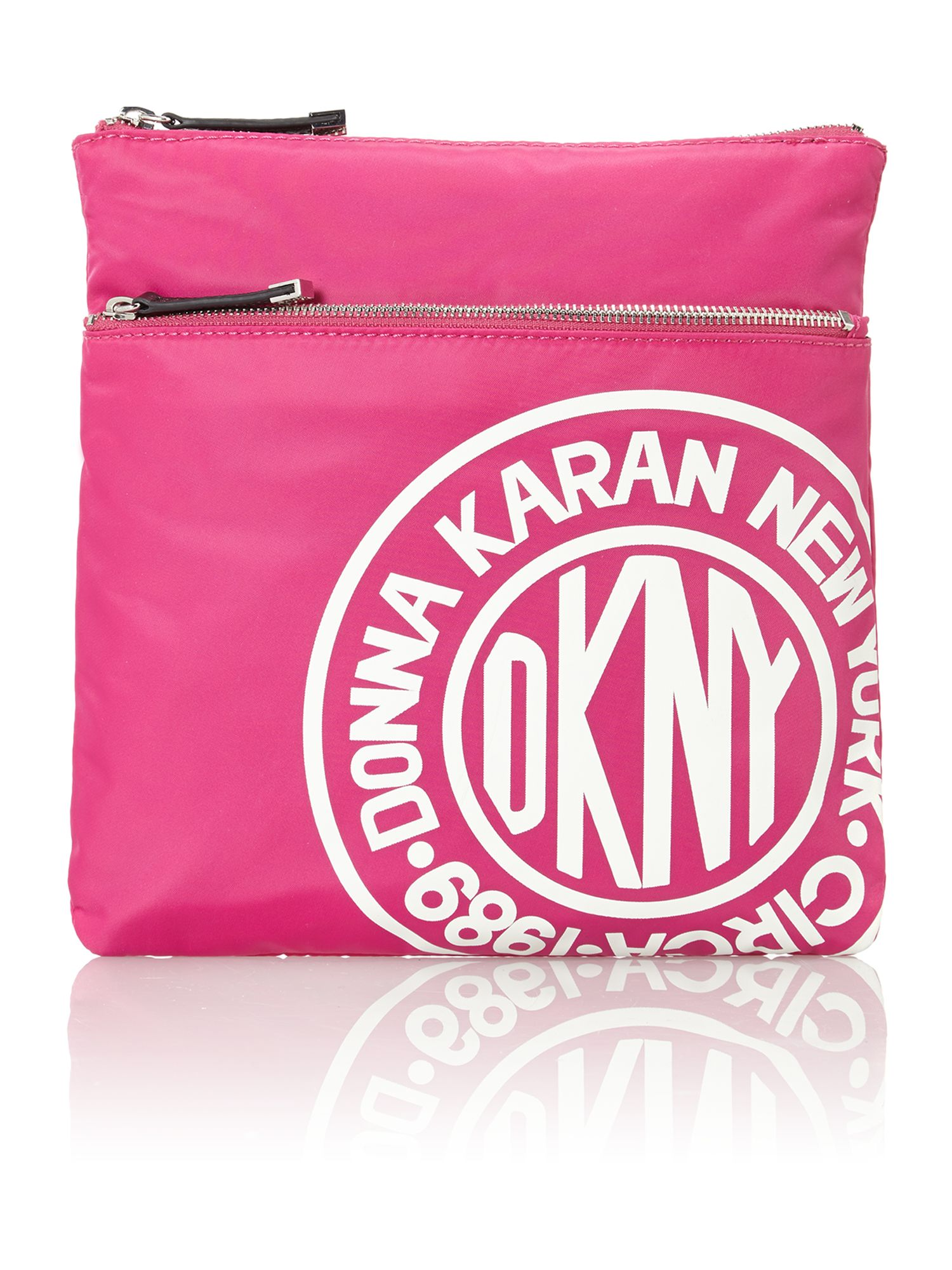Nylon logo pink crossbody bag