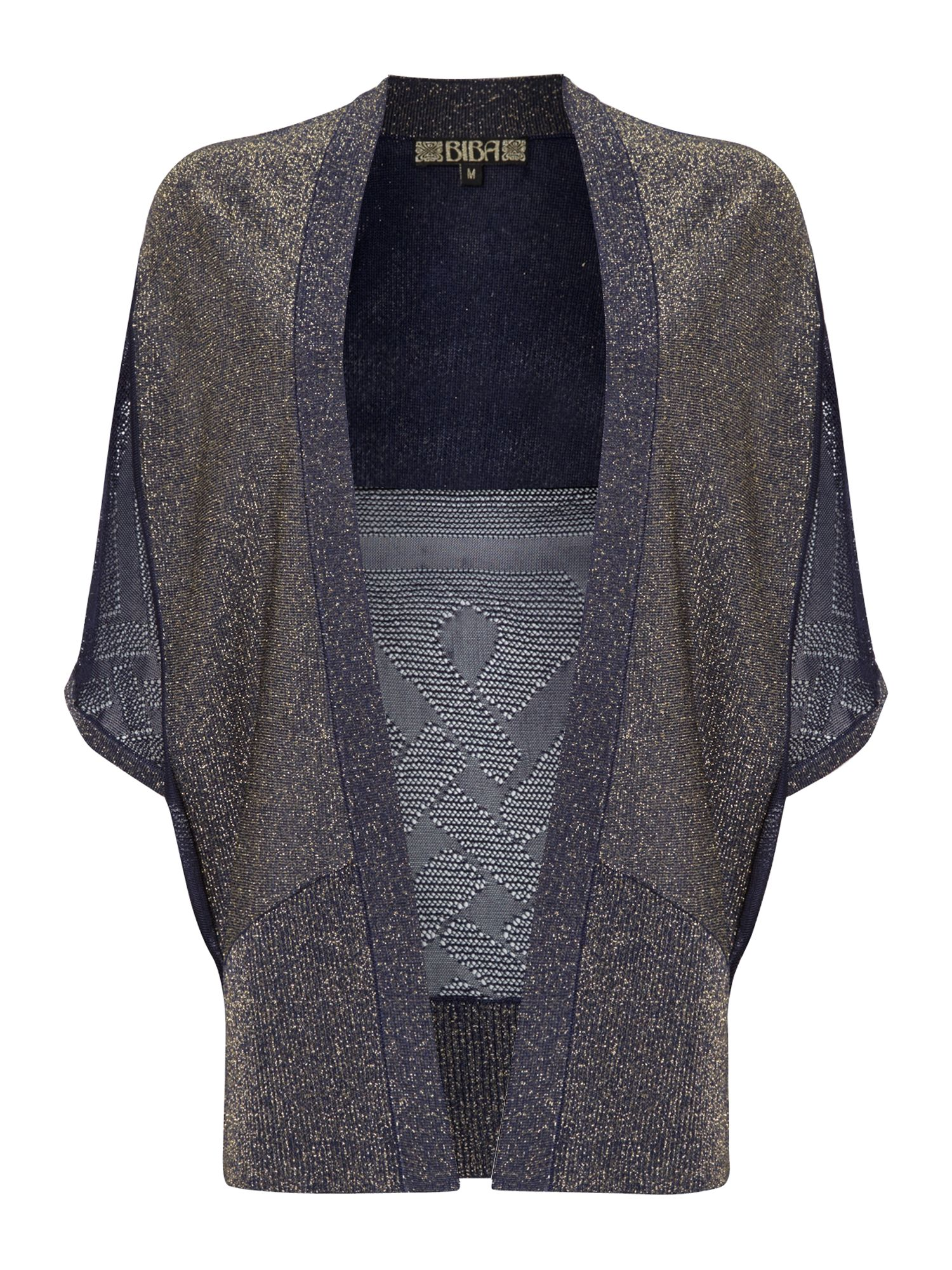 Throw on metallic logo cardigan