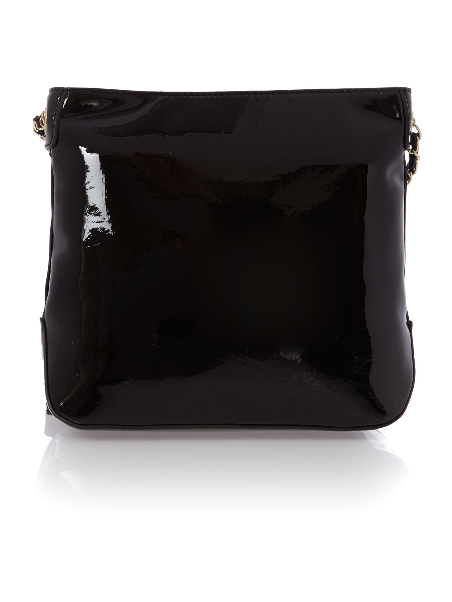 Patent black crossbody bag