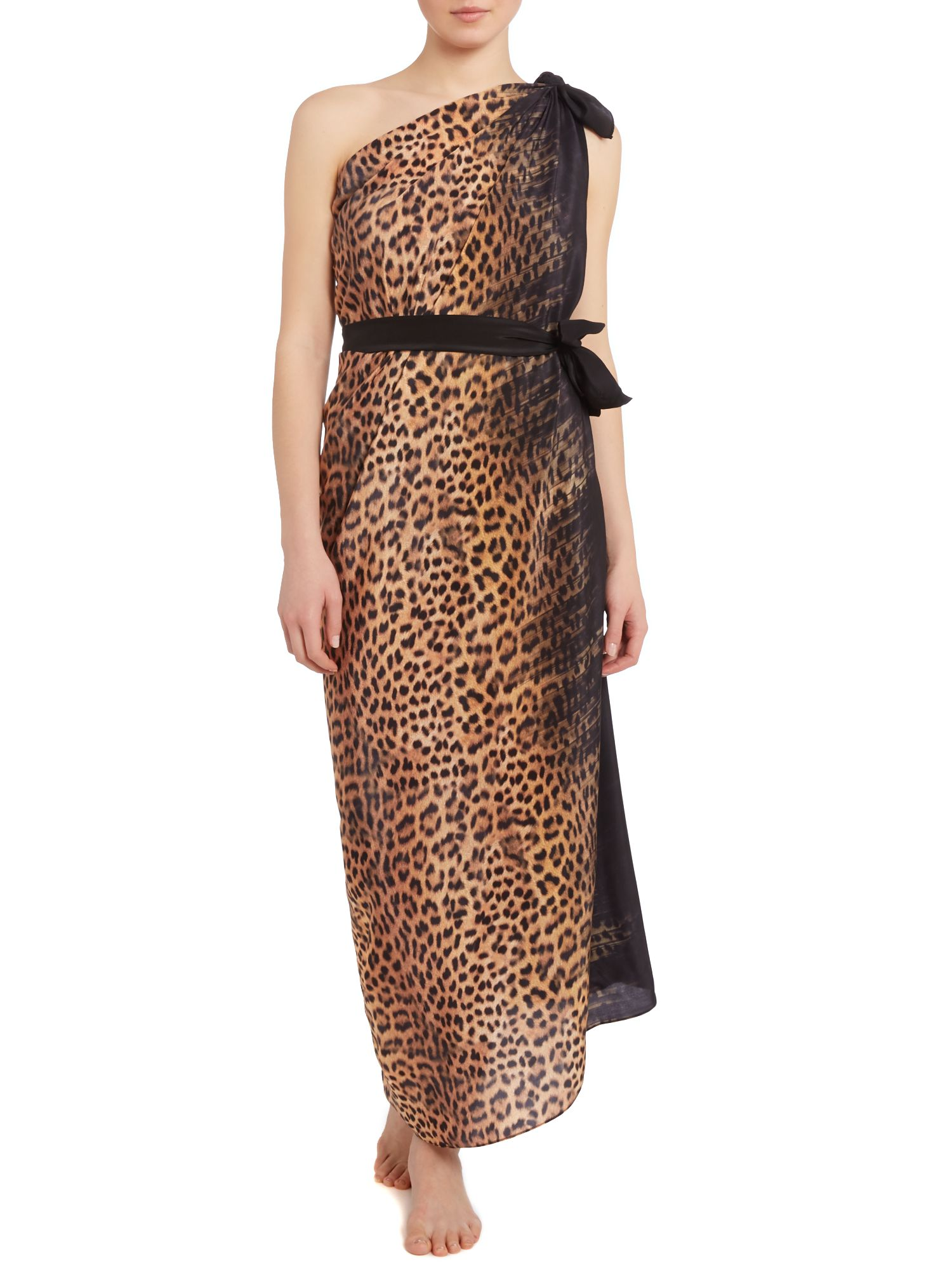 Bangalore leopard print pareo with belt