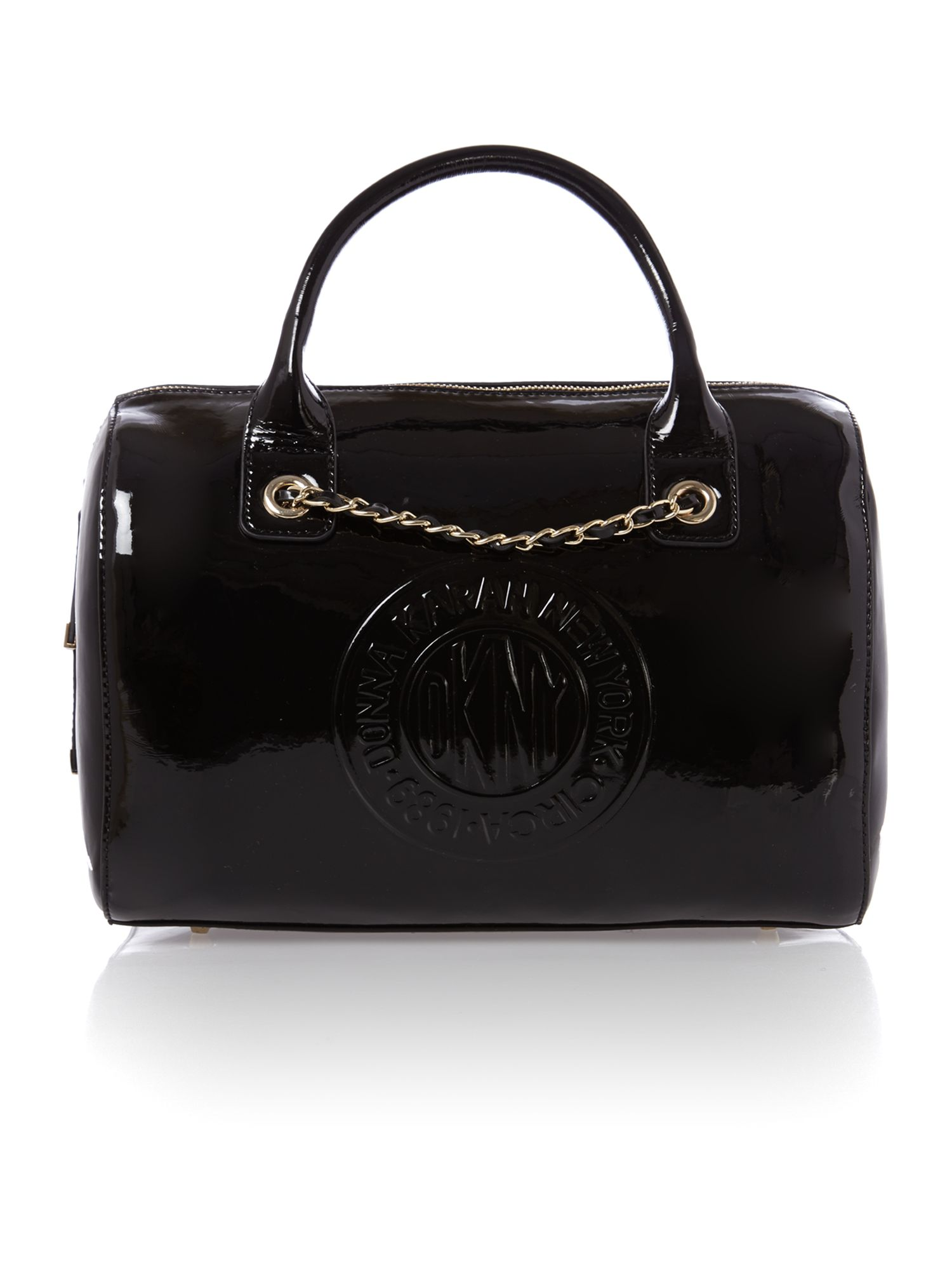 Patent black bowling bag
