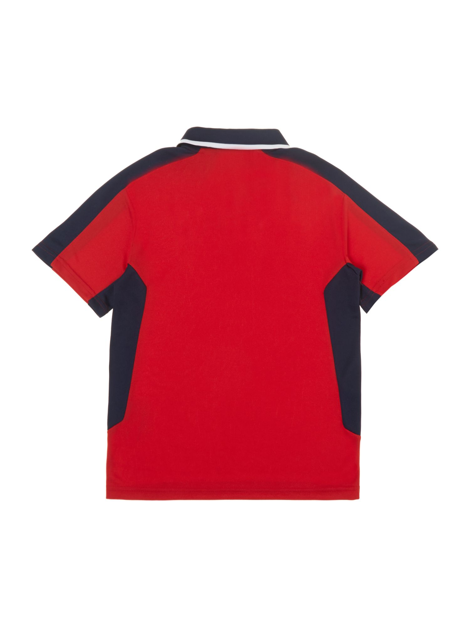 Boys sports large logo polo shirt