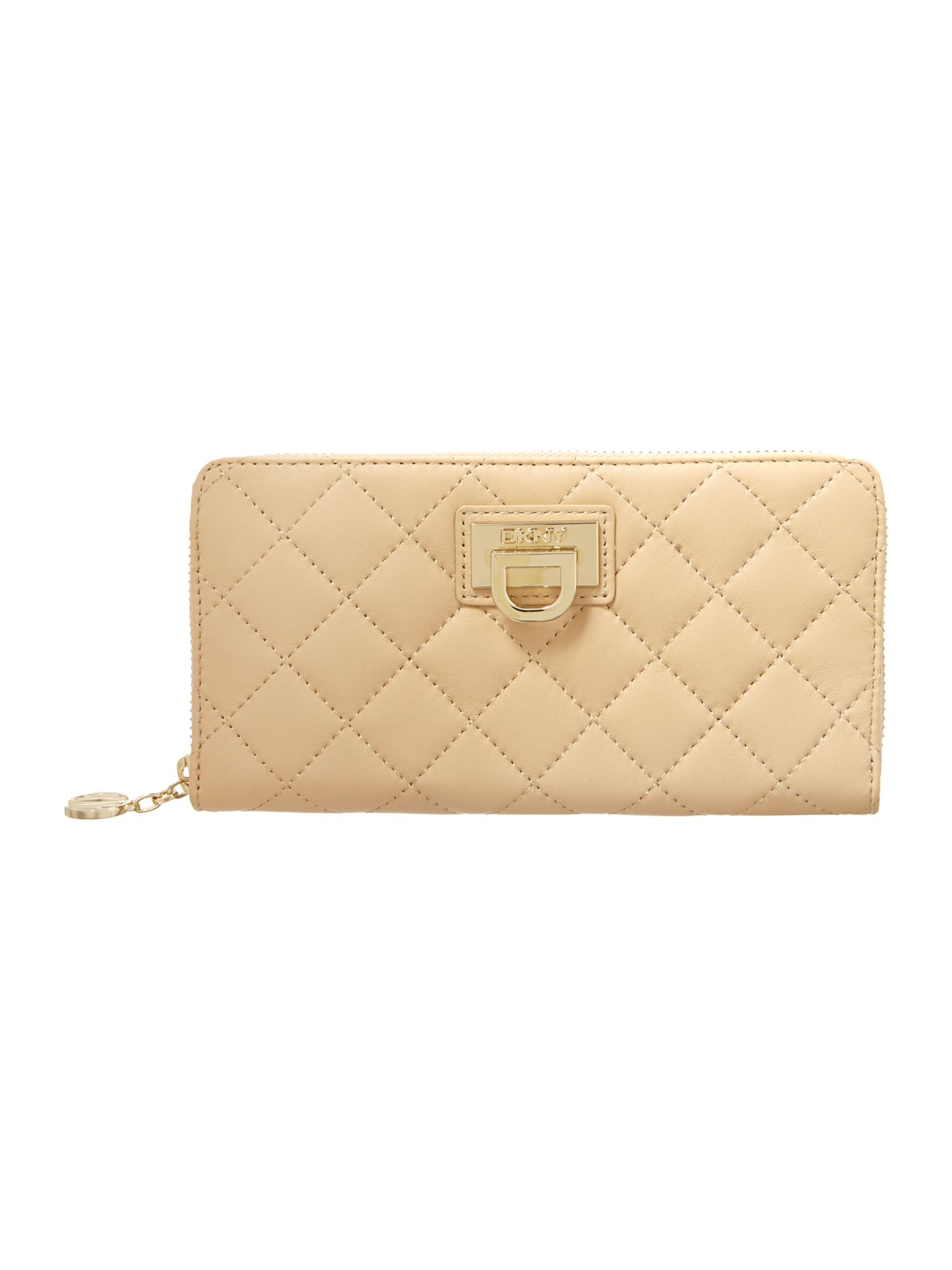 Neutral large zip around purse