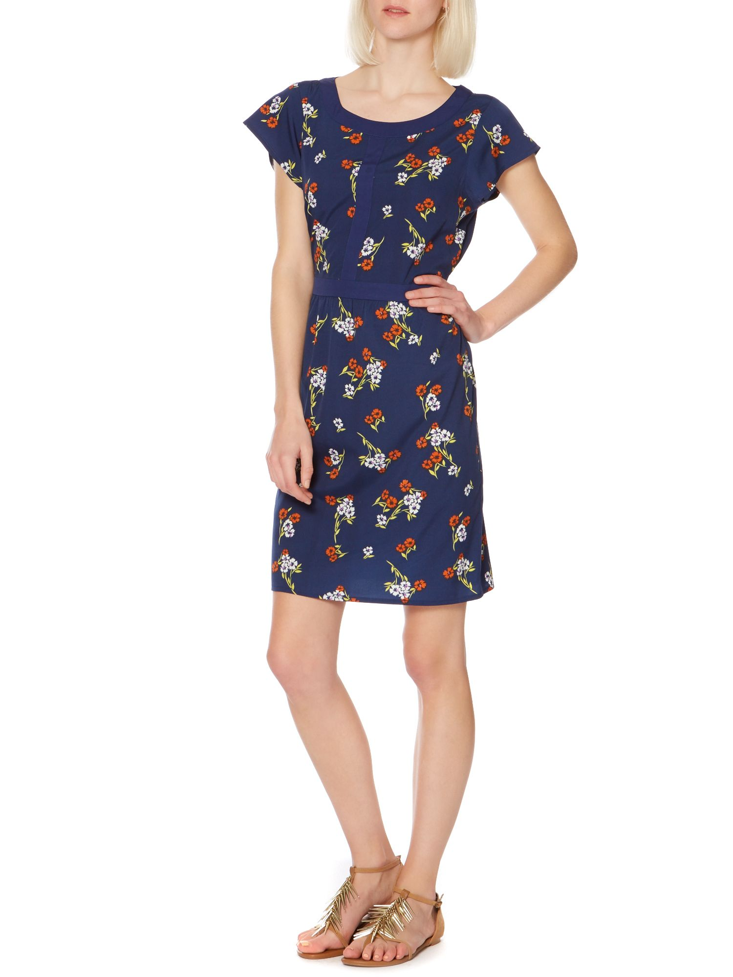 Keyhole small floral print dress