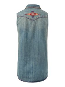 Girls western denim shirt