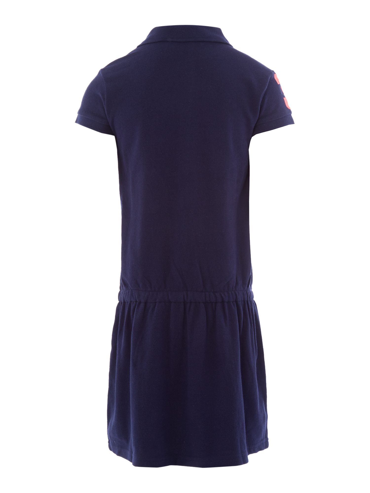 Girl`s large logo polo dress