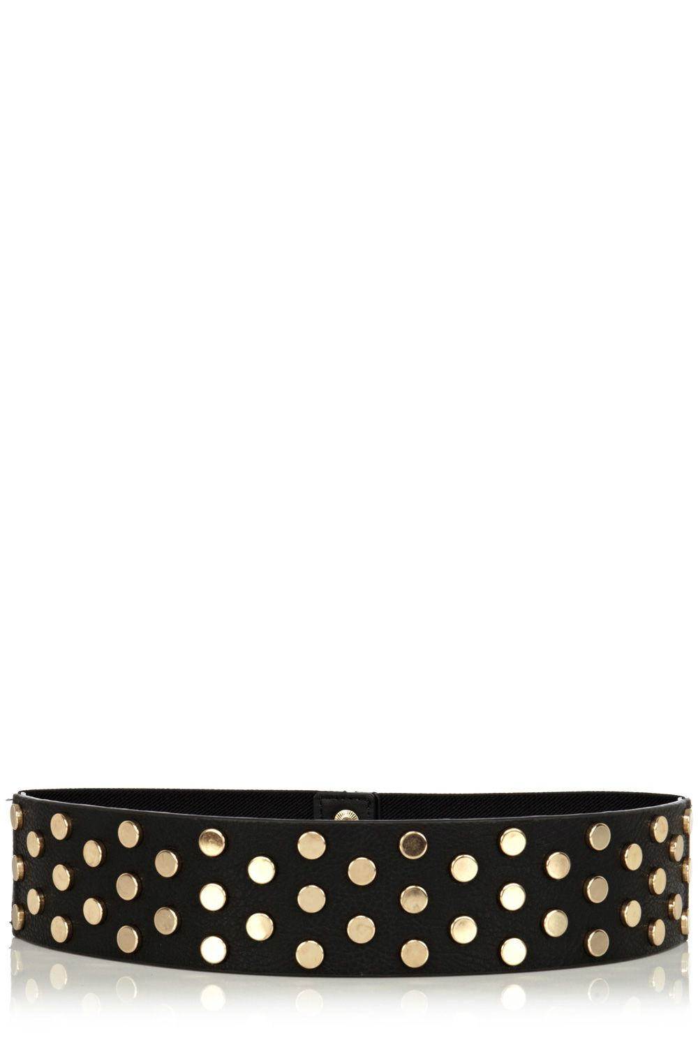 Wide studded waist belt