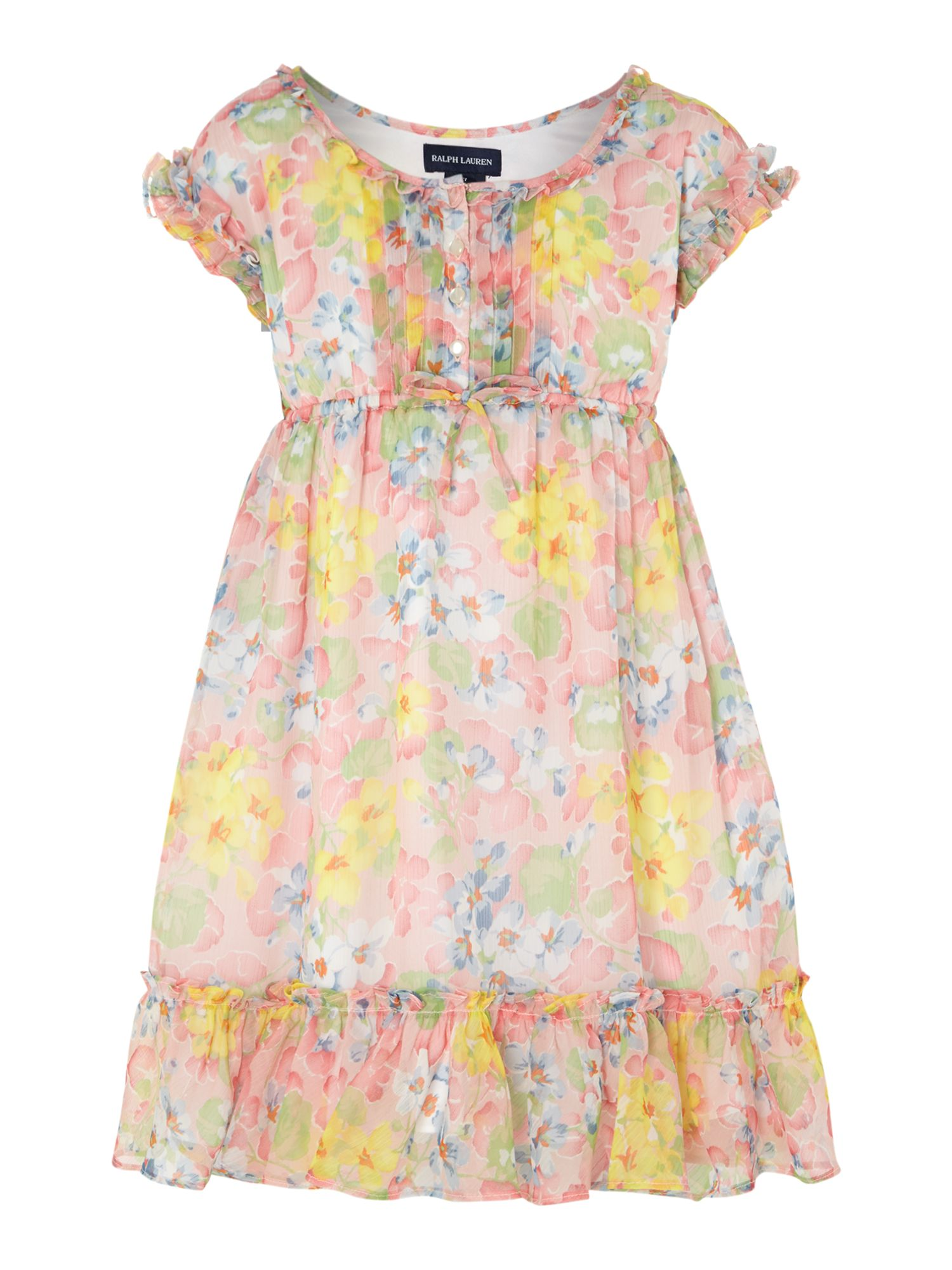 Girls floral tiered dress
