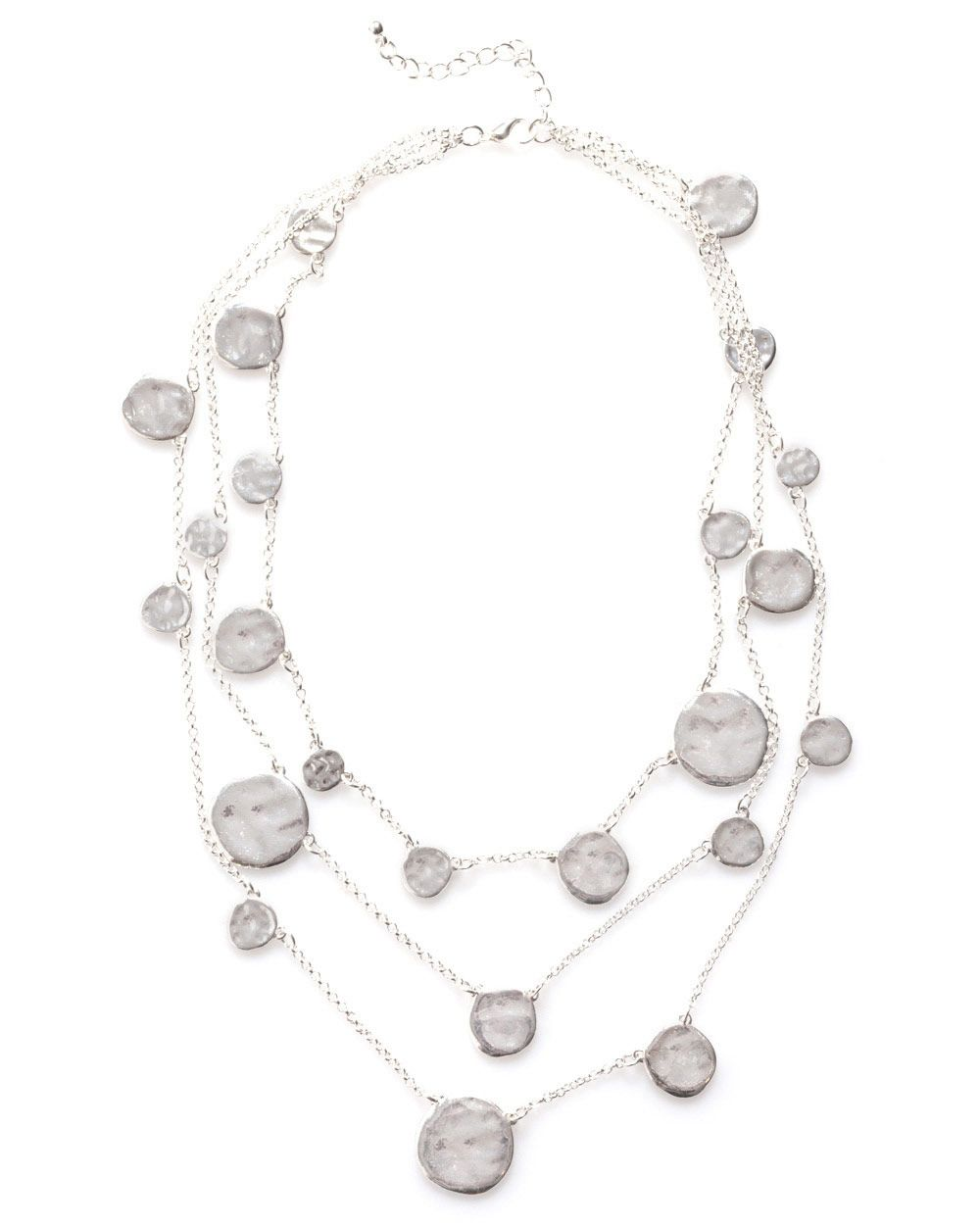 Irregular disc necklace
