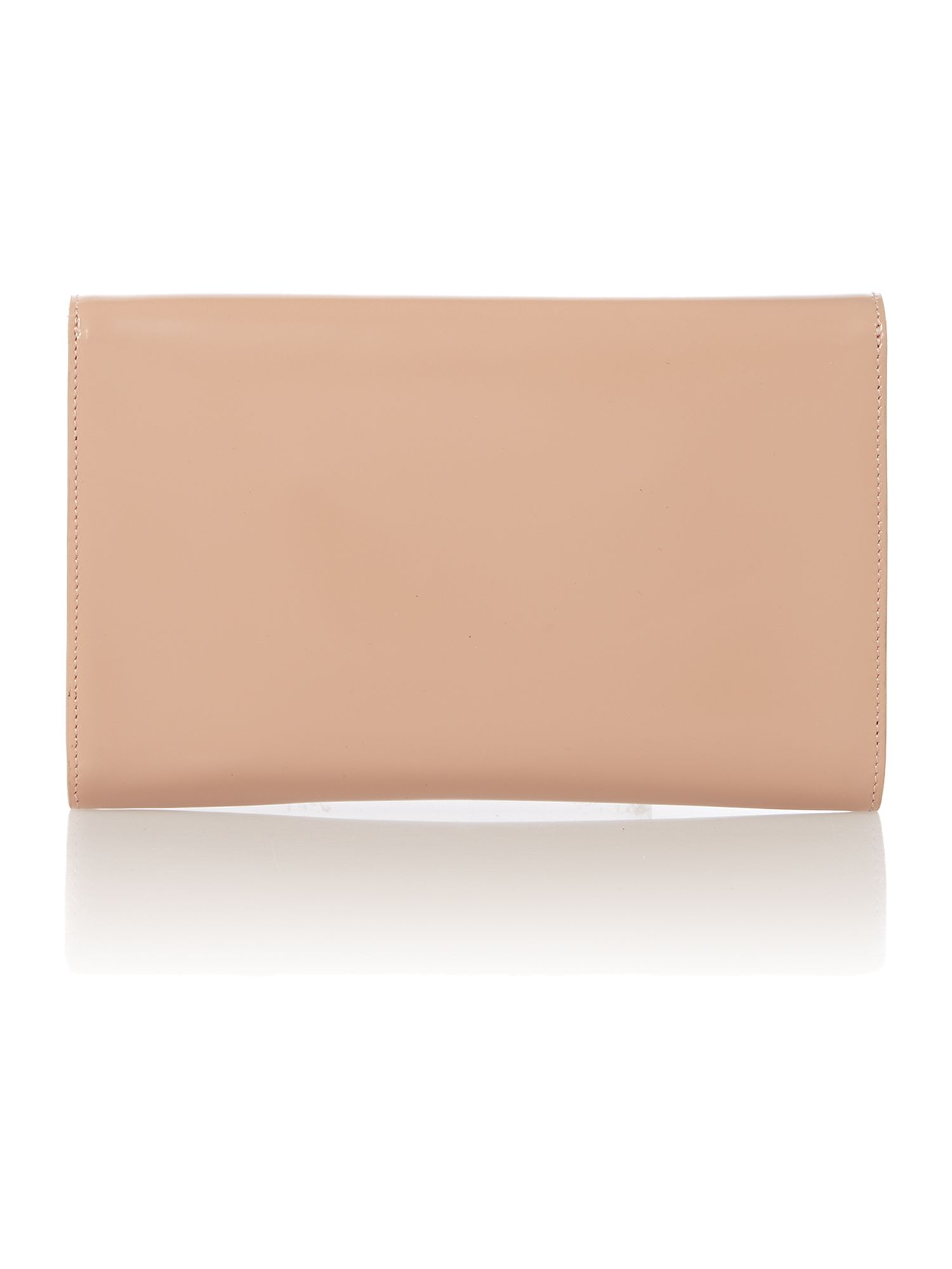 Polished Calf pink clutch bag