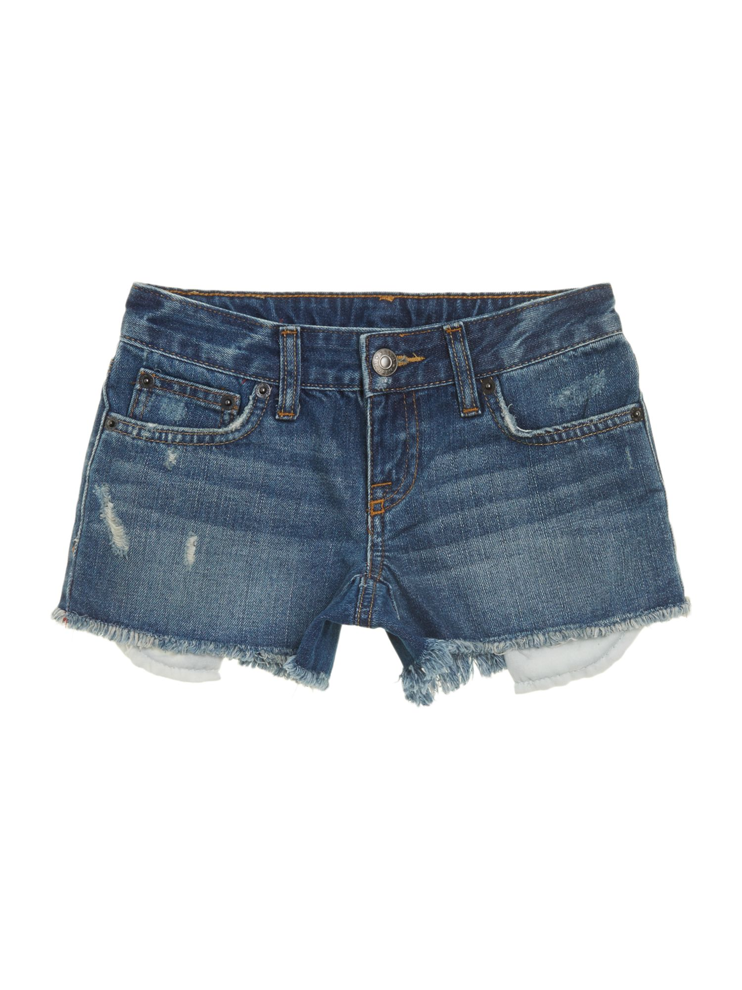 Girls cut off denim shorts