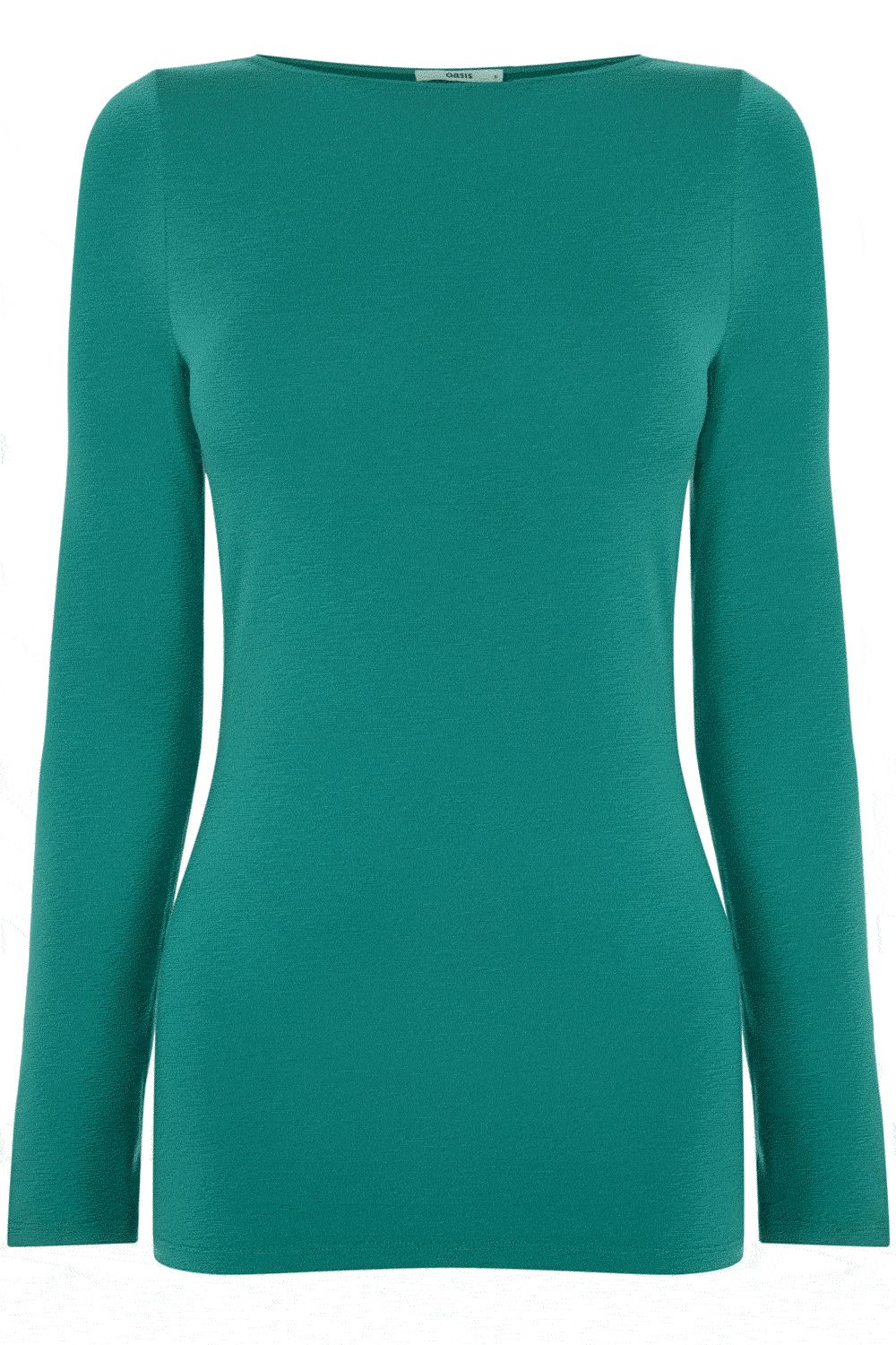 Curve neck long sleeve T-shirt