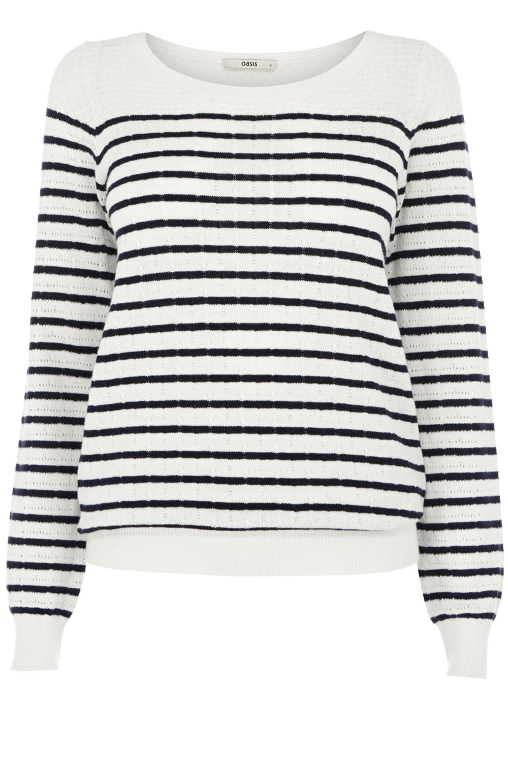Pointelle Breton stripe top