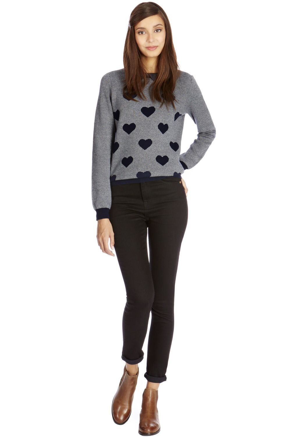 Heart collar jumper