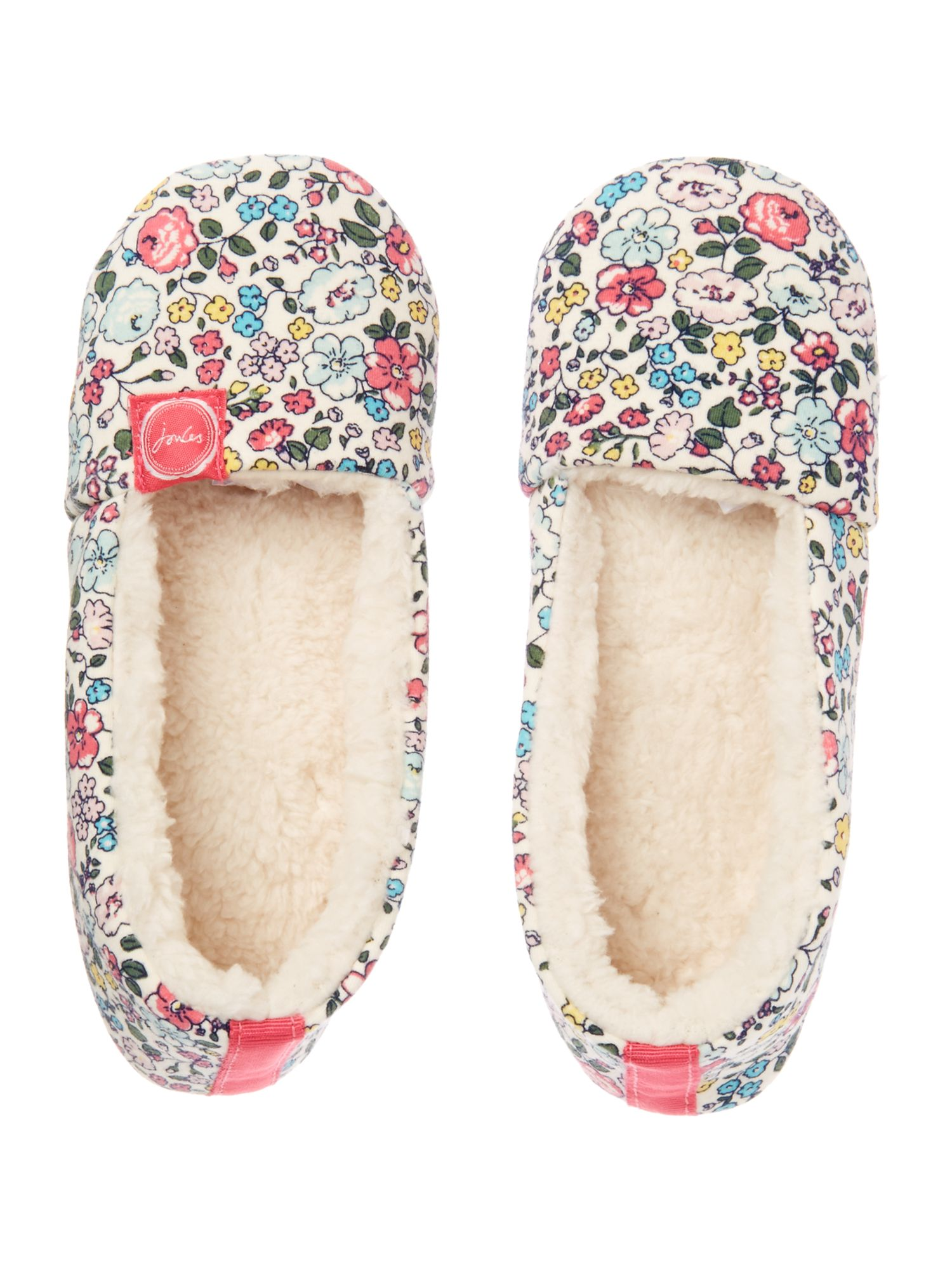 Girl`s ditsy floral slippers