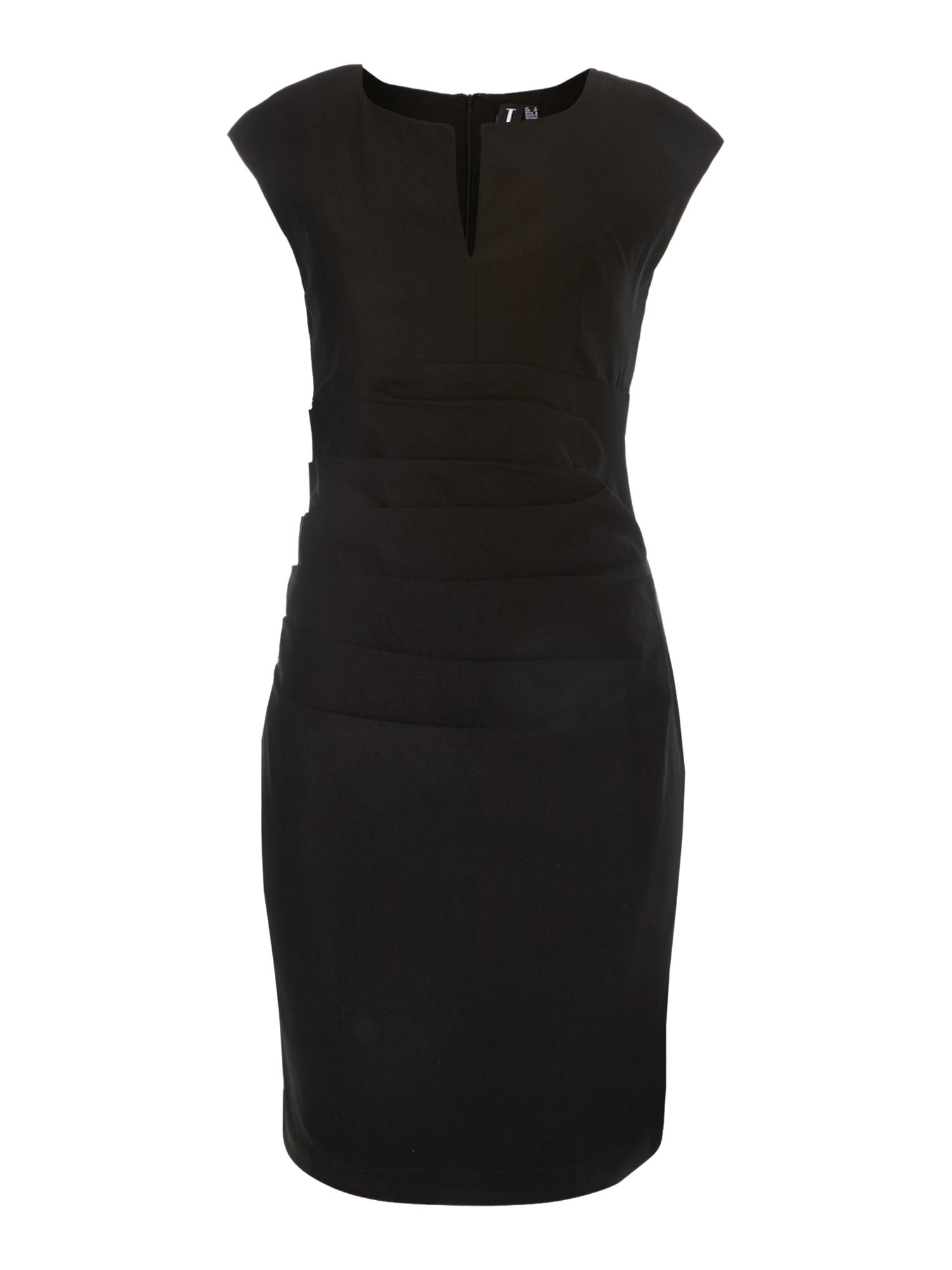 Plunge neckline pencil dress