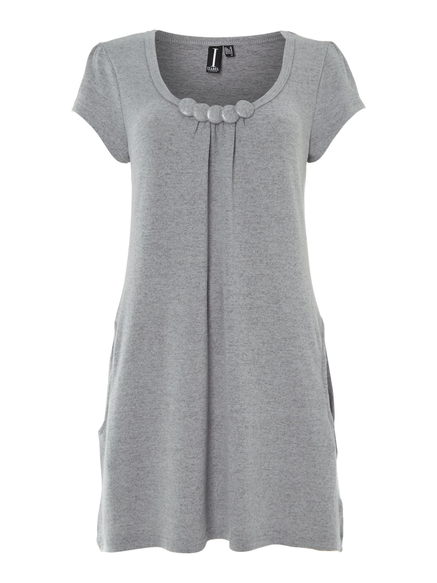 5 button smock dress with pockets