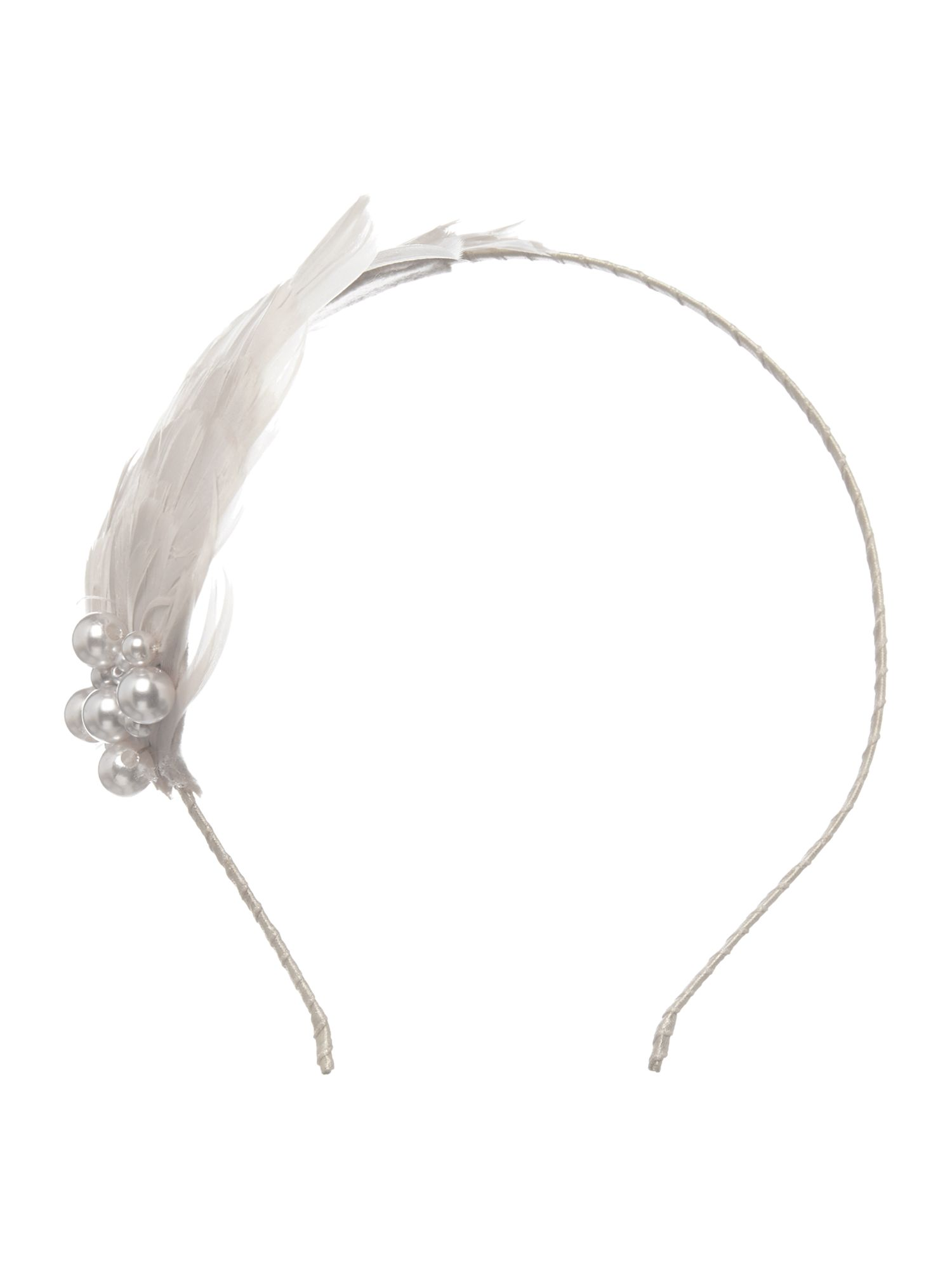 Fan feather headband