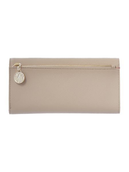 DKNY Saffiano neutral large flap over purse