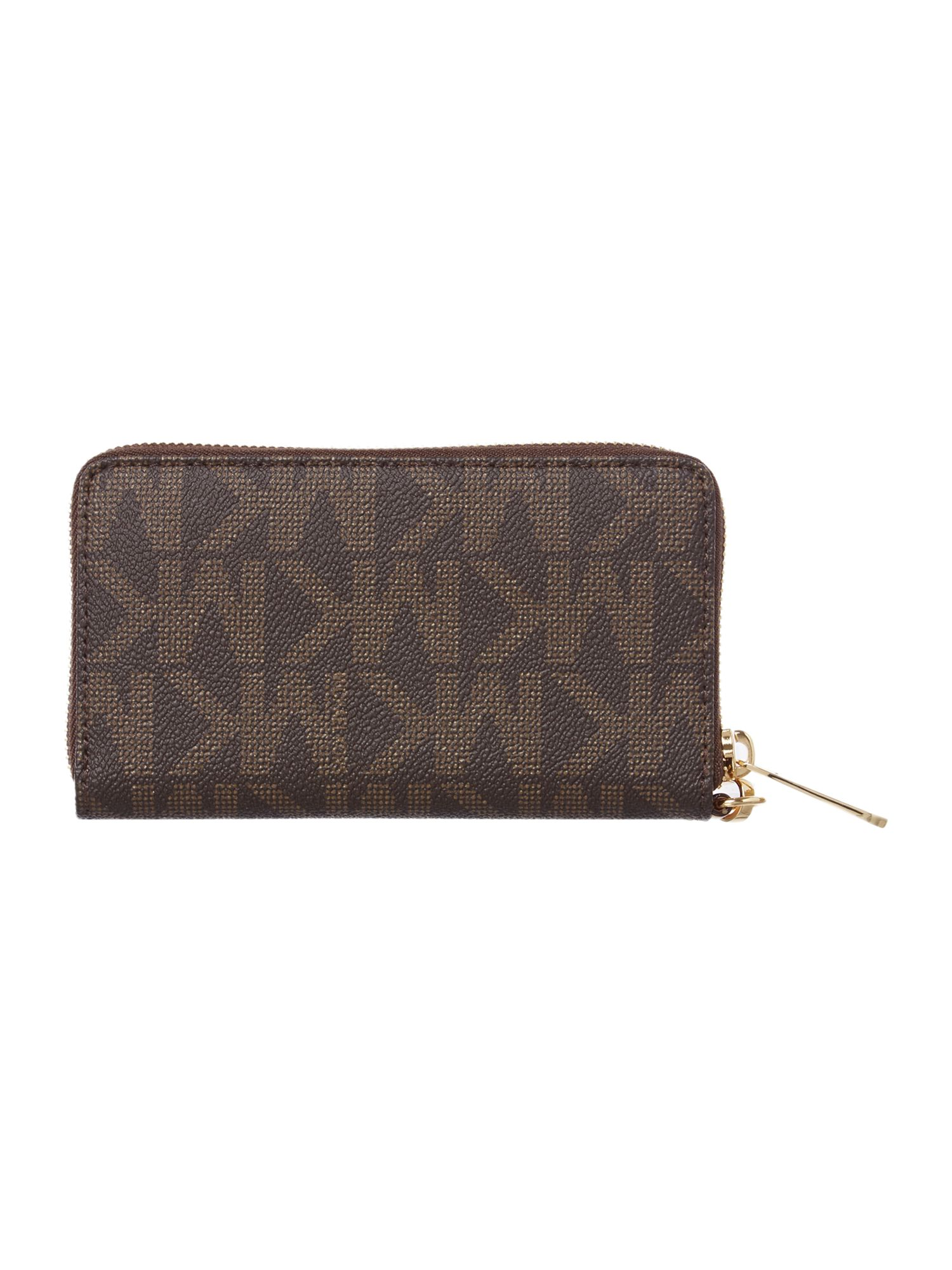 Electronics brown print phone purse