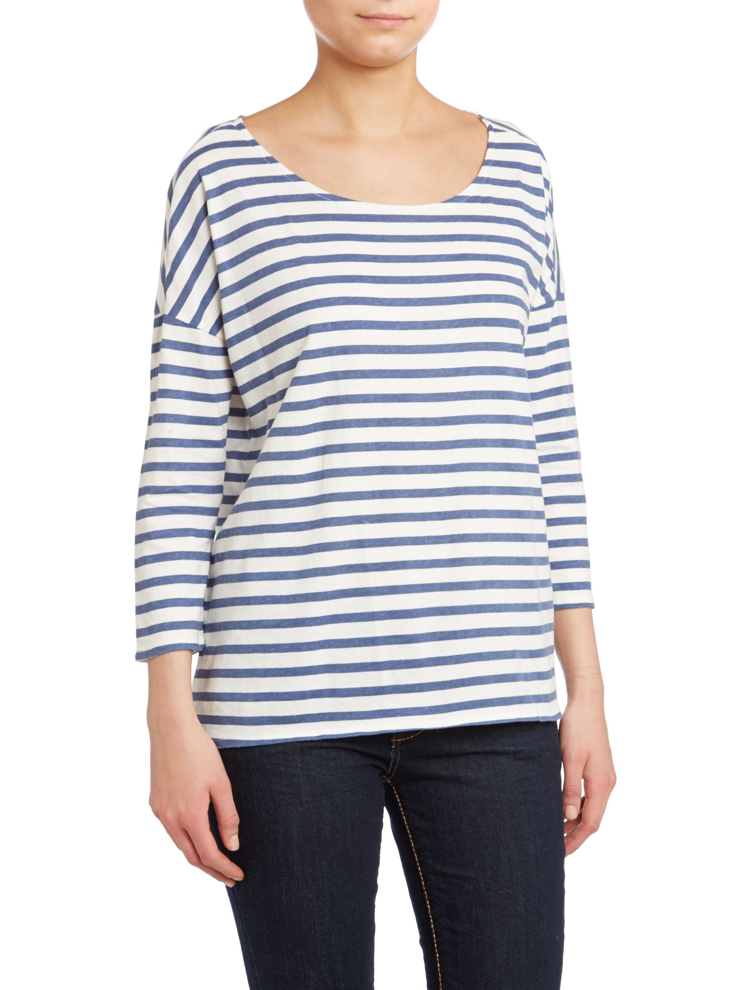 Blair long sleeve stripe tee