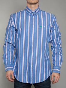 Raging Bull Big and tall red/mid blue stripe shirt