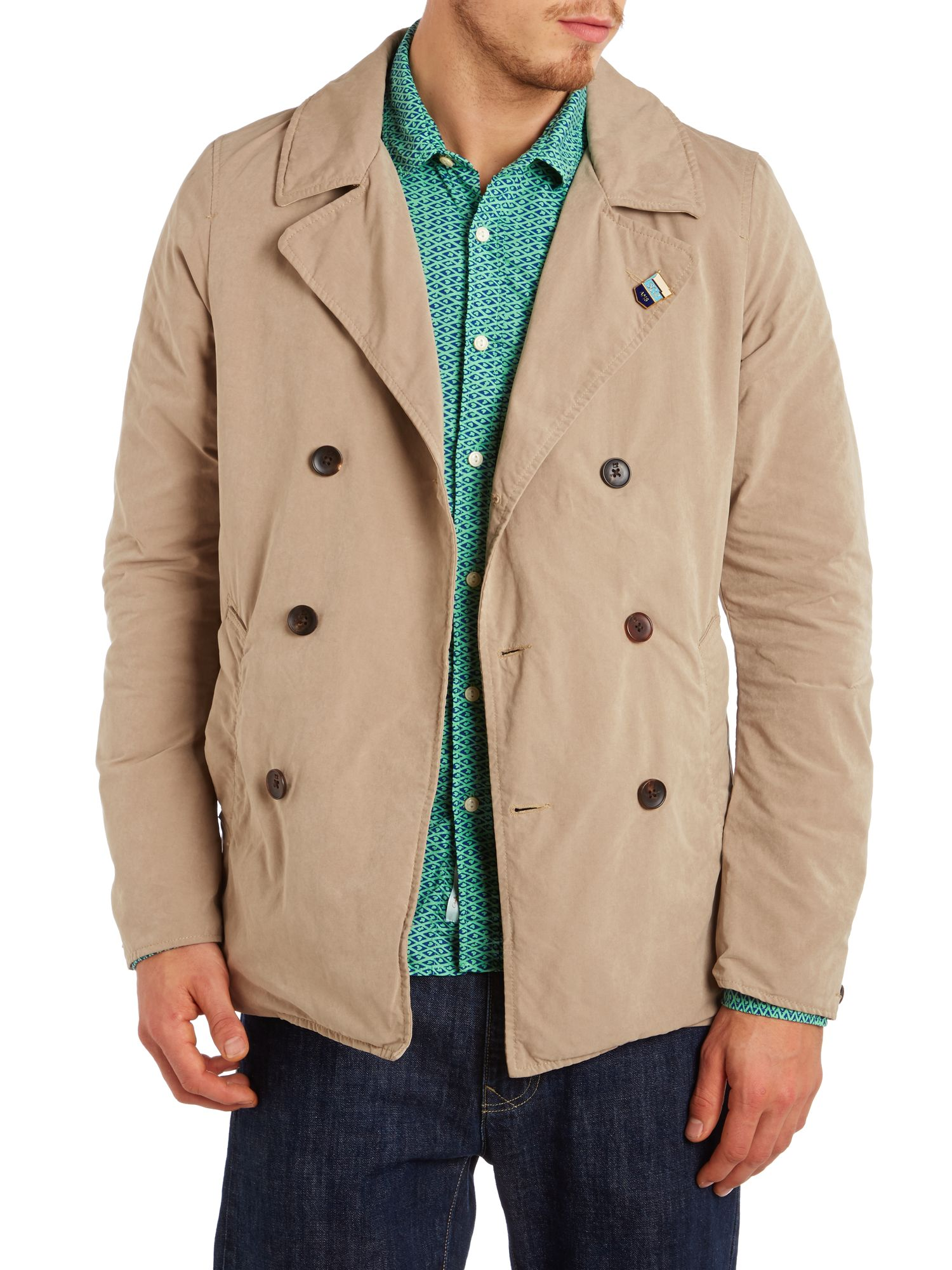 Double breasted summer caban coat