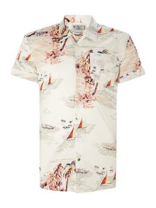 All-over printed hawaii shirt