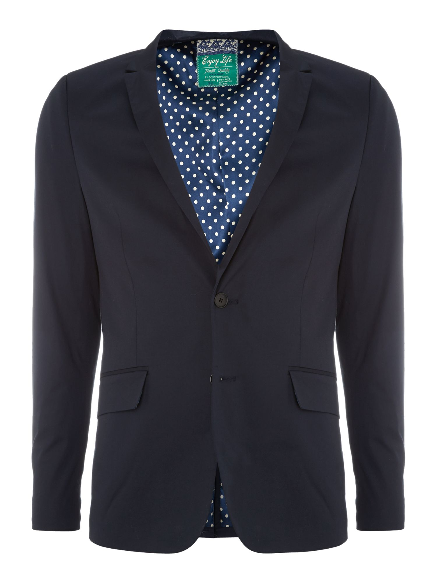 Chic two buttoned blazer in mercerized cotton