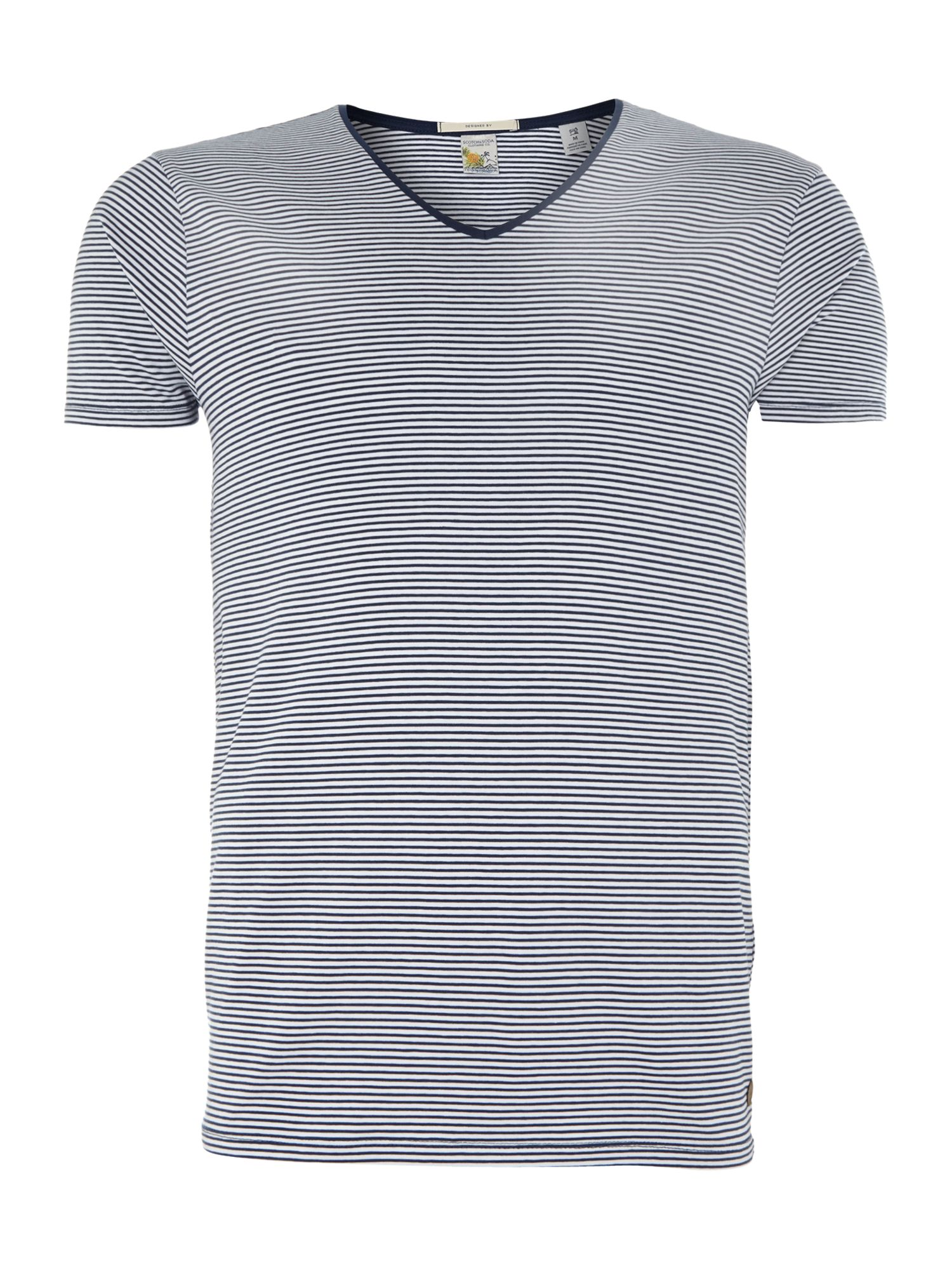 Basic cotton/lycra v-neck tee