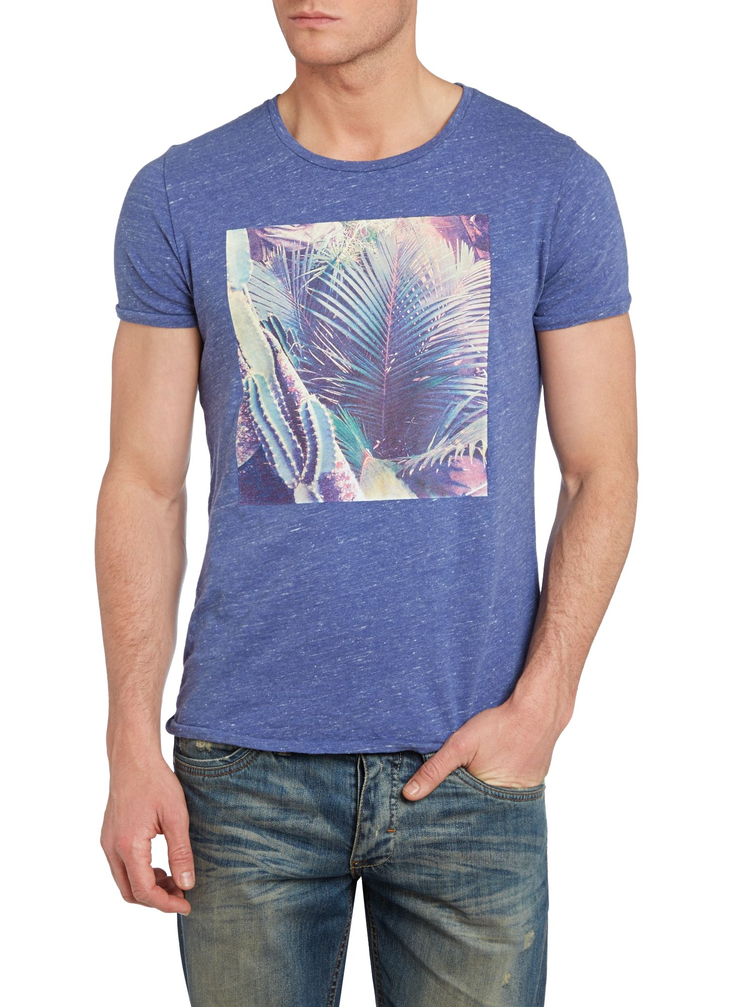 Botantical photo printed tee