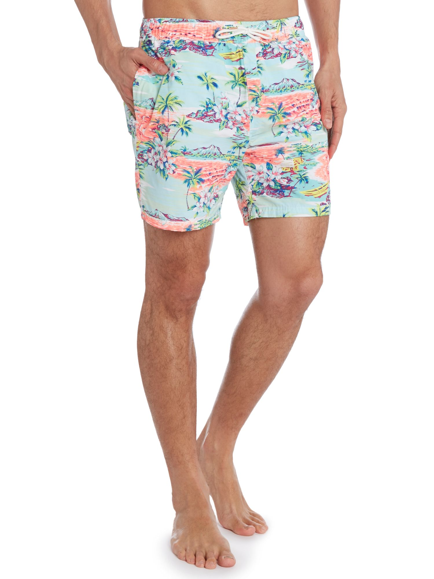 All-over printed hawaii swimshort