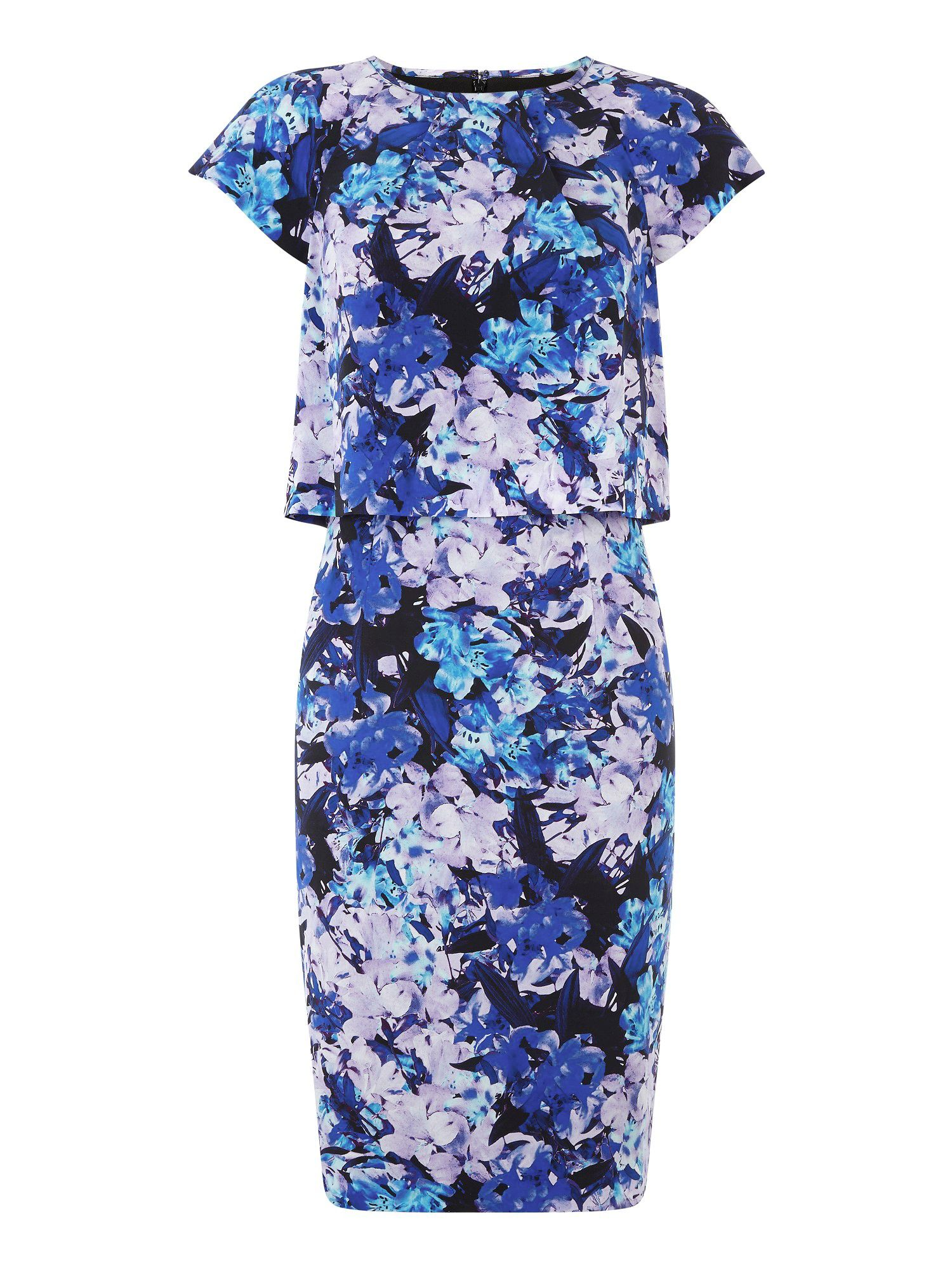 Silk Honour Print Dress